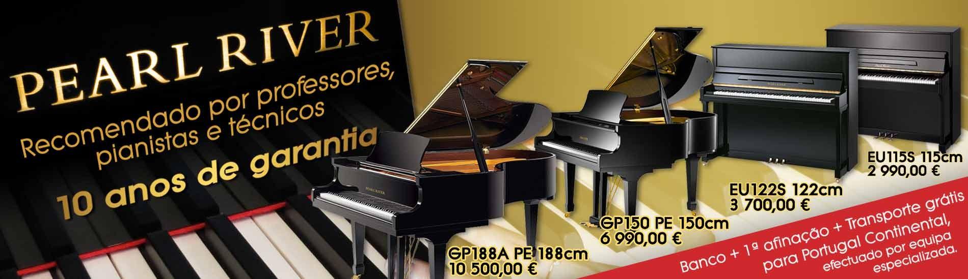 Pianos Pearl River - Recomendados por professores, pianistas e técnicos!