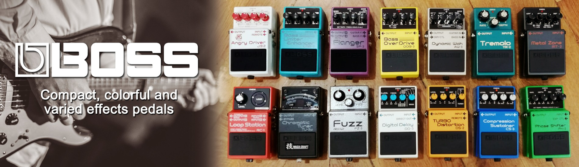Boss - Compact, colorful and varied effects pedals