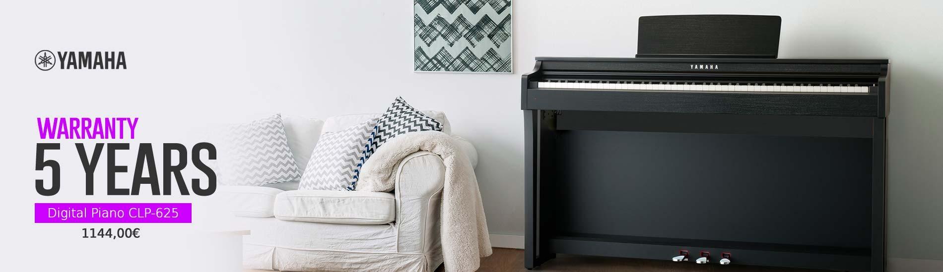 5 Years Warranty Digital Piano CLP-625