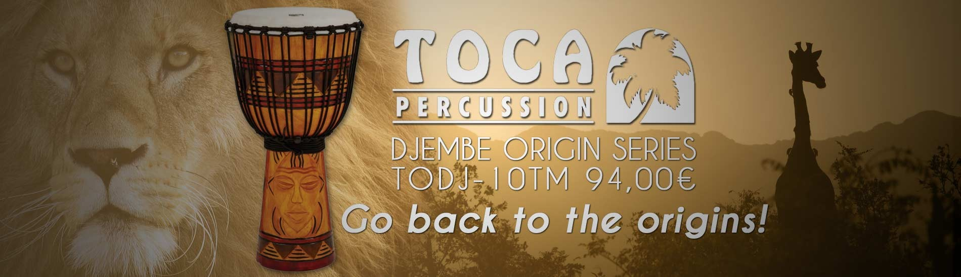 Toca Percussion Djembe TODJ-10TM Origin Series