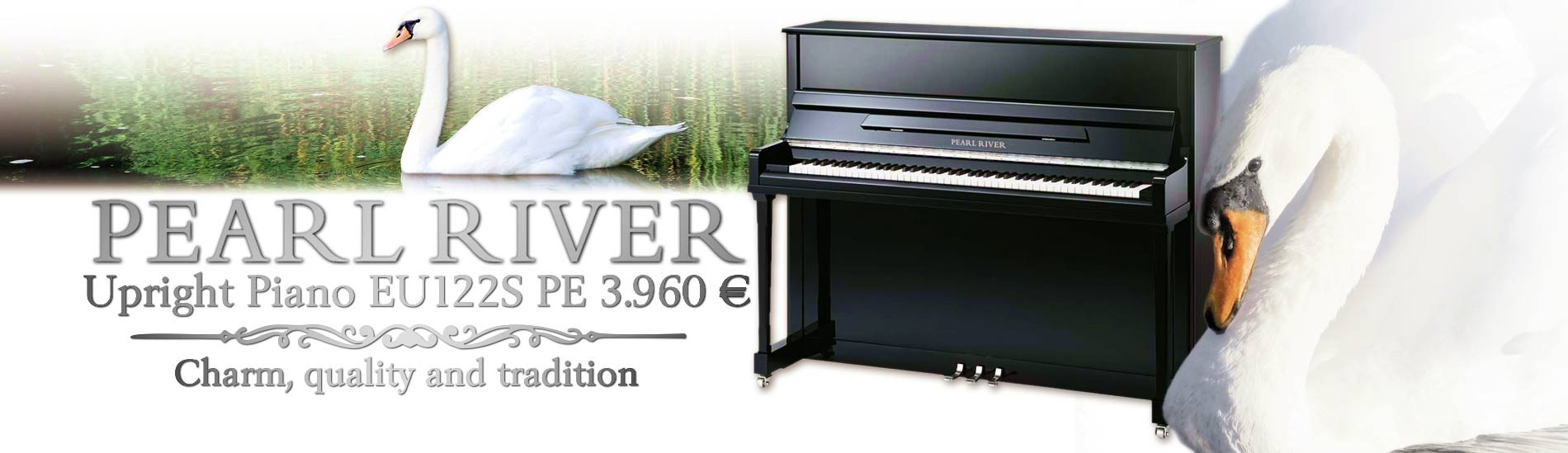 Pearl River Upright Piano EU122S PE Black Polished Premium Professional
