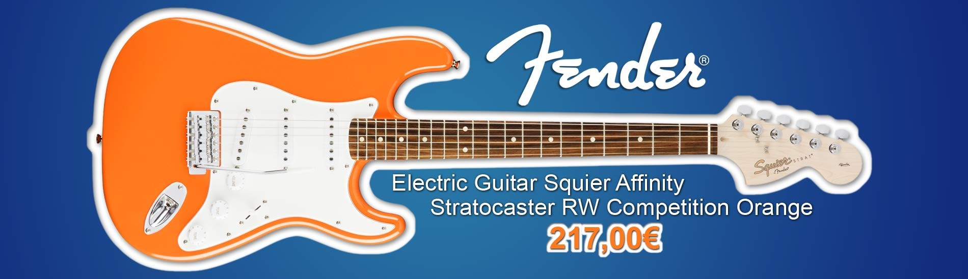 Fender Squier Electric Guitar Affinity Stratocaster RW Competition Orange