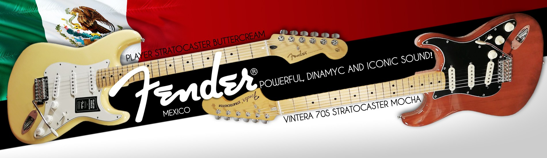 Fender Mexico -  Powerful, dinamyc and iconic sound!