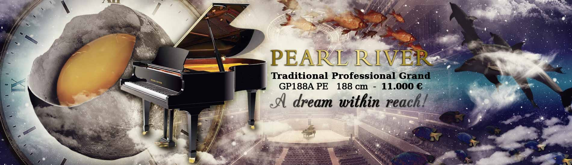 Pearl River Grand Piano GP188A PE Traditional Professional 188 cm