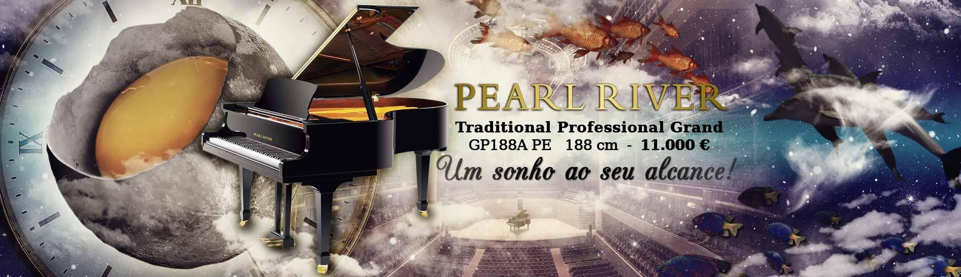 Piano de Cauda Pearl River GP188A PE Traditional Professional Grand 188 cm
