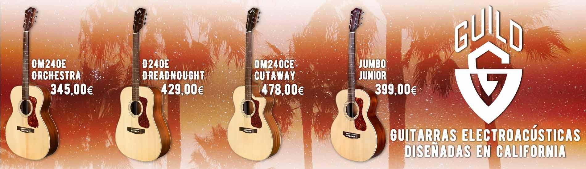 Guitarras Electroacústicas Guild - Diseñadas en California!