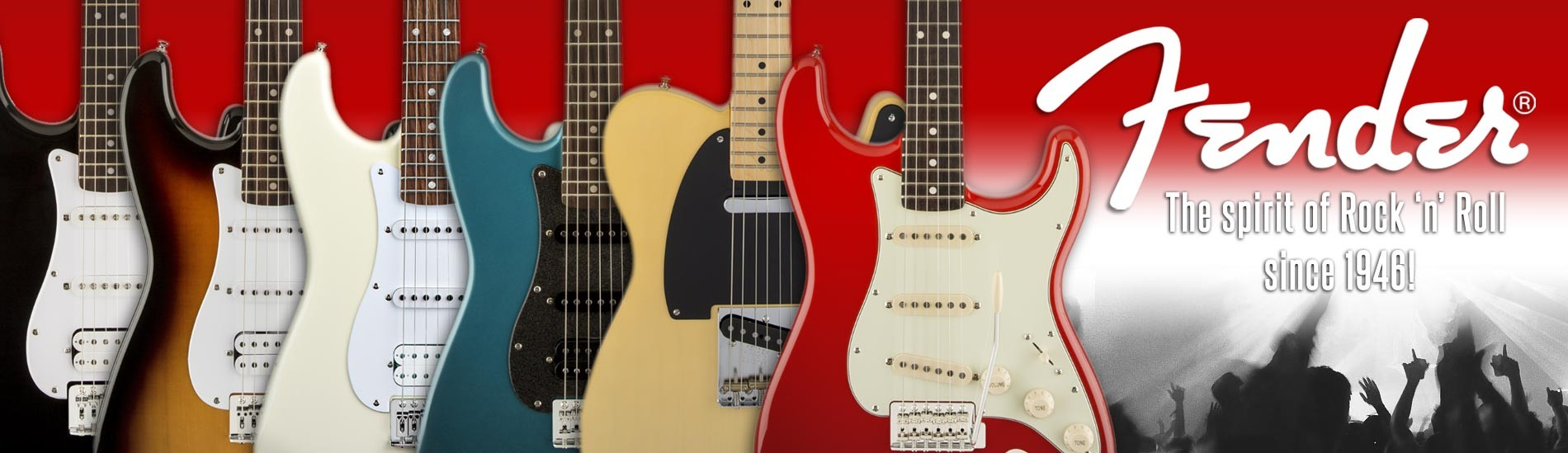 Fender - The spirit of Rock 'n' Roll since 1946!