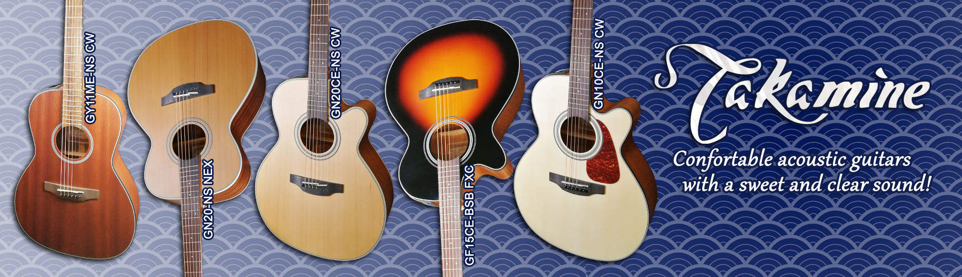Takamine - Confortable acoustic guitars with a sweet and clear sound!