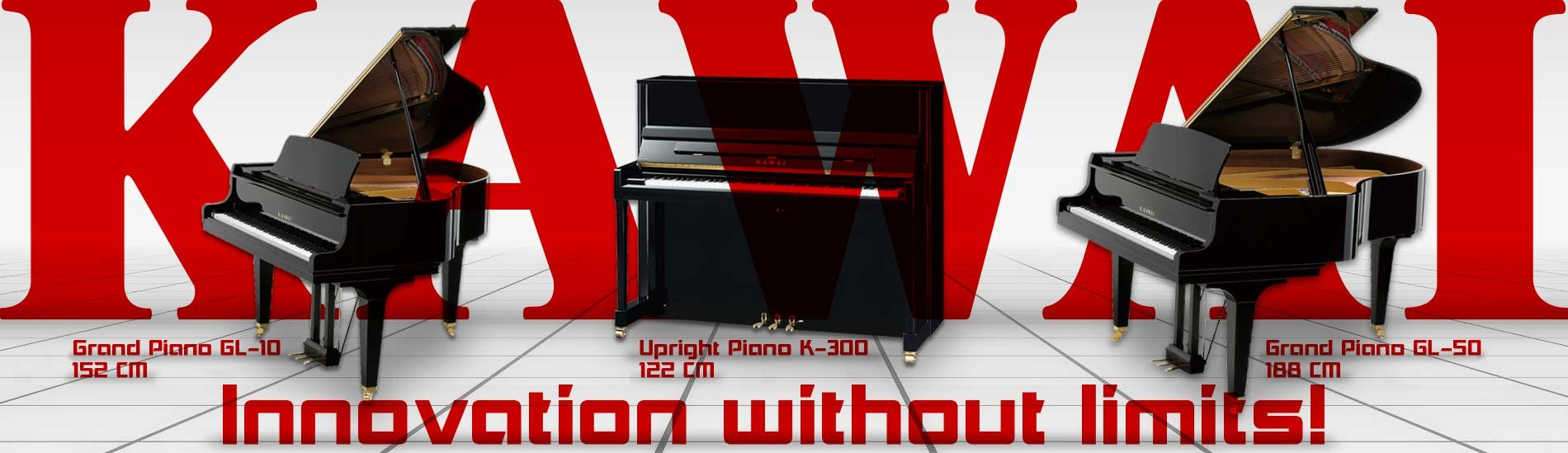 Kawai Acoustic Pianos - Innovation without limits!