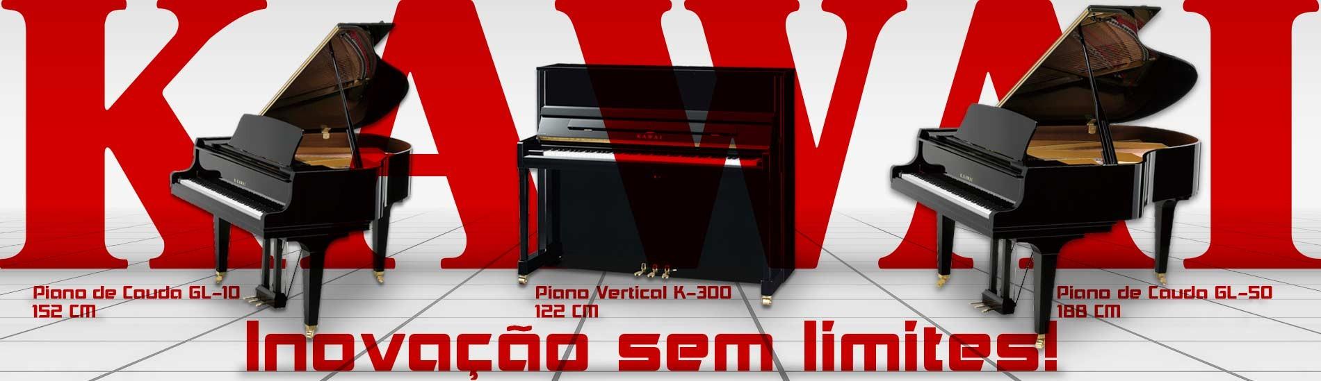 Pianos Acústicos Kawai - Inovação sem limites!