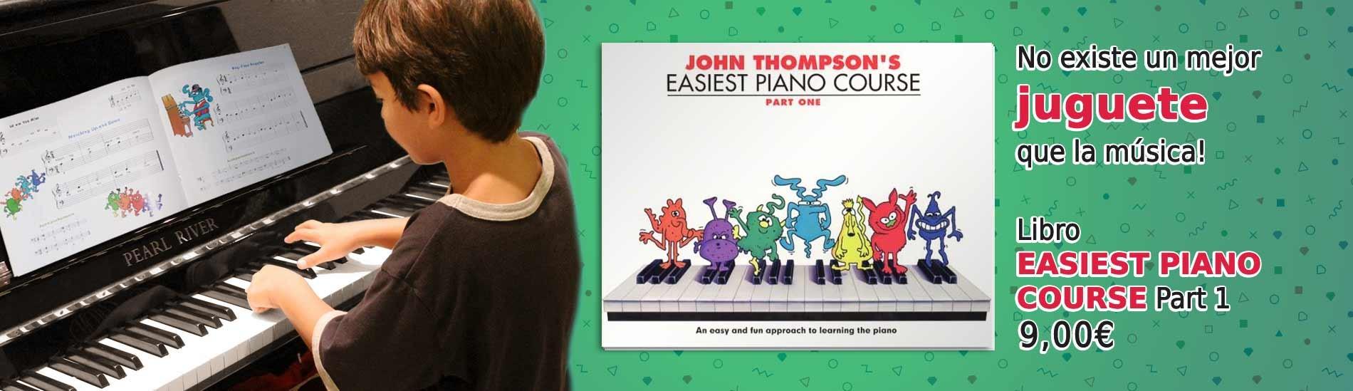 No hay mejor juguete que la música! - Libro Easiest Piano Course