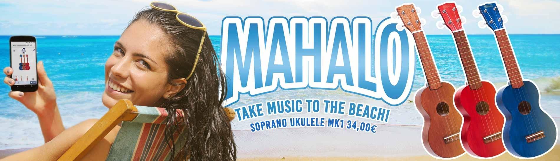 Mahalo Soprano Ukulele MK1 - Take music to the beach!