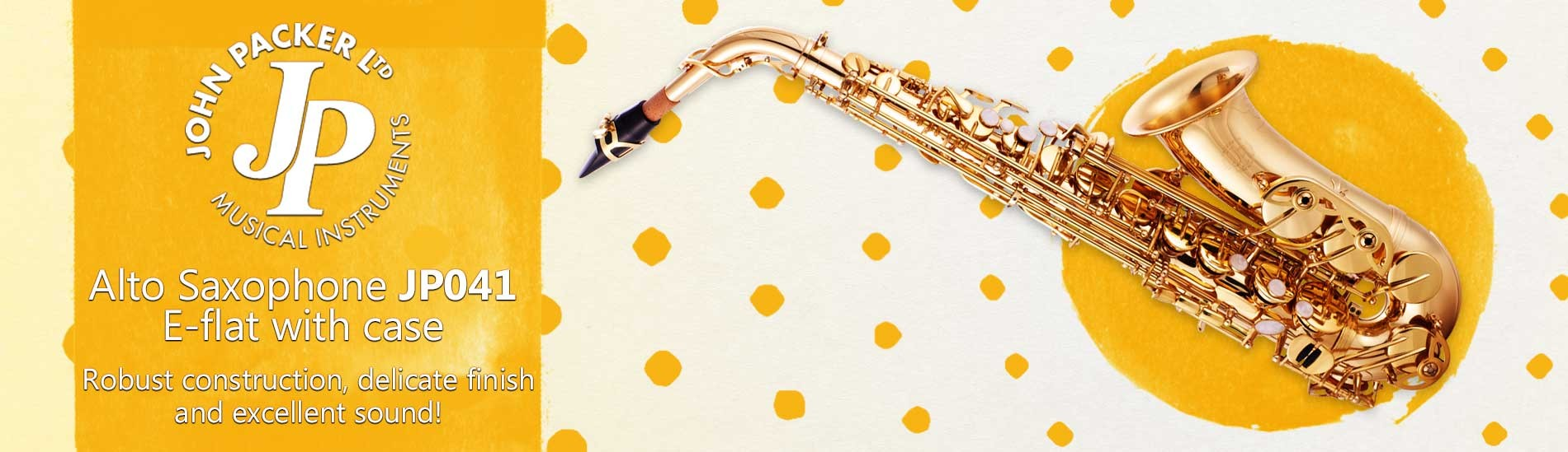 John Packer Alto Saxophone JP041 with Case - Robust construction, delicate finish and excellent sound!